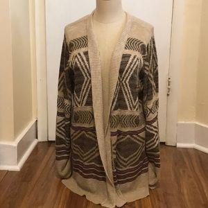 Brown and tan cardigan.  Size 2X